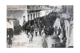 The French Foreign Legion Parading Through the Streets of Sidi Bel Abbes  Algeria  1906