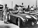 Peter Collins with an Aston Martin  Sebring  Florida  USA  1950S