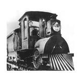 American Inventor Thomas Alva Edison on Board an Electric Railroad  1892