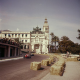 Two Racing Cars Taking a Bend  Monaco Grand Prix  Monte Carlo  1959