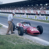 Lorenzo Bandini in a Ferrari 312  French Grand Prix  Reims  France  1966