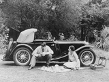 Couple Having a Picnic by an Mg Ta Midget  Late 1930S