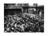 A Typical Sitting of the Reichstag  Parliament of the German Republic  1926