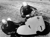 Bmw Motorbike and Sidecar Combination  1958