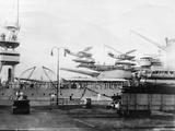 Seaplanes on Board a Us Navy Warship  Navy Yard  Balboa  Panama  1931