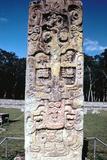 Stele B from Copan  Honduras  Pre-Columbian  Maya  C300-630