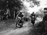 Action from the National (Ope) Shrubland Park Scramble  Suffolk  1952