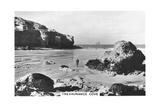 Trevaunance Cove  Cornwall Coast  1937