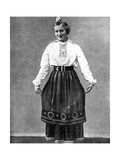 Estonian Woman in Traditional Dress  1936