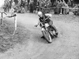 Gw Beamish on a Bsa 500Cc Motorbike  Brands Hatch  Kent  1953