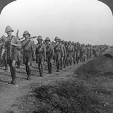 British Soldiers Marching Through the Desert to Baghdad  World War I  1914-1918