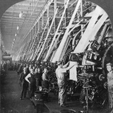 General View of a Large Printing Room in a Cotton Mill  Lawrence  Massachusetts  USA