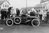 T Thornycroft with His Thornycroft Car at a Tt Race  1908