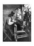 Woman Using a Loom  Sweden  1936