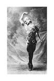 Vaslav Nijinsky  Russian Ballet Dancer  in Le Spectre De La Rose  Paris  1911