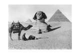 Praying before a Sphinx  Cairo  Egypt  C1920s
