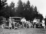 A Group of People on an Outing with their Cars  C1929-C1930