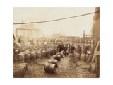 Ebano Bitumen Stored at Elizabeth Wharf  Limehouse  London  C1900