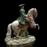 Equestrian Portrait of Empress Catherine II in the Semenovsky Life-Guards Regiment Uniform  1770