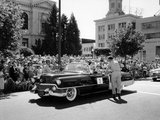 Cadillac Convertible in a Street Parade  USA  (C1958)