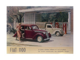 Poster Advertising a Fiat 1100  1940