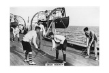 Deck Hockey on Board the Battleship HMS 'Nelson  1937
