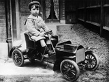 Boy in 1908 Mercedes 28/32 Hp Pedal Car  C1908
