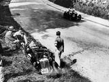 The Wreckage of Goldie Gardner's MG J4  Tourist Trophy  Ards-Belfast  1932
