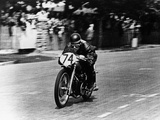 M Barrington on a Moto Guzzi Bike  Isle of Man Tt  1949