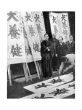 Printing Election Posters in Japan  1936