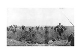 Charge by a Regiment of French Zouaves on the Plateau of Touvent  Artois  France  7 June 1915