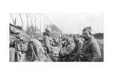 Soldiers of a French Zouave Regiment Between Lizarne and Boesinghe  Belgium  April 1915