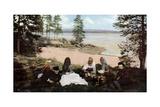 Karelians Having Tea by a River  Near Archangel  Russia  C1930S