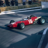 Lorenzo Bandini Driving a Ferrari 246  in the Monaco Grand Prix  Monte Carlo  1966