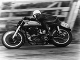 A Norton in Action in the Isle of Man TT  1950