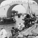Woo Men Bridge and Grand Imperial Canal  Soo-Chow (Suzho)  China  1900