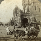 Ekka  Outside Victoria Station  Bombay  India  C1900s