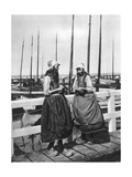 Two Girls on the Landing Stage  Marken  Netherlands  C1934
