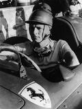 Peter Collins in a Ferrari  C1956