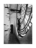 Inside the Clock Face of Big Ben  Palace of Westminster  London  C1905