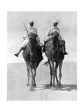 Two Arabs Riding Camels in the Sahara Desert  Africa  1936