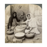 Women Grinding at the Mill  Palestine  1900