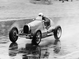 Frank Wall Driving a Bugatti Type 35B  1926