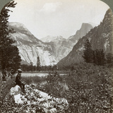 North Dome  Half Dome and Clouds Rest  Yosemite Valley  California  USA  1902