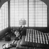 A Geisha Sleeping in a Tea House  Hikone  Japan  1904