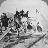 Stacking Salt in the Great Salt Fields of Solinen  Black Sea  Russia  1898