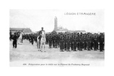 French Foreign Legion Preparing to March on the Plateau Faubourg Bugeaud  Algeria  20th Century