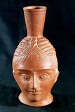 Ceramic Vase in the Shape of an Anthropomorphic Head  El Aouja  Tunisia