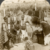 Experts Purchasing Silk Cocoons  for Export to France  Antioch  Syria  1900s