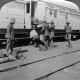 Lifting Wounded Soldiers onto a Hospital Train  East Africa  World War I  1914-1918